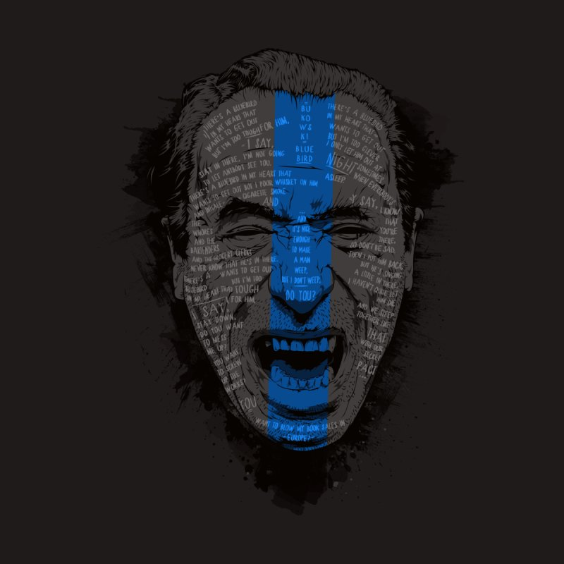 Bukowski | Bluebird Men's T-Shirt by Gabriel Mihai Artist Shop
