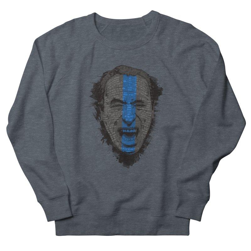 Bukowski   Bluebird Men's French Terry Sweatshirt by Gabriel Mihai Artist Shop