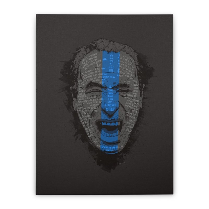 Bukowski | Bluebird Home Stretched Canvas by Gabriel Mihai Artist Shop