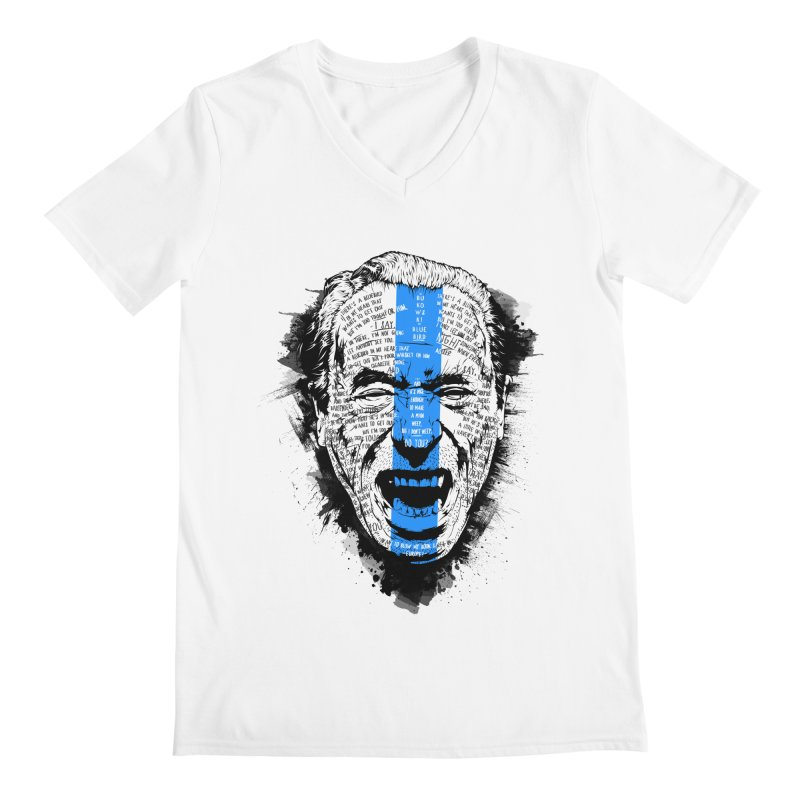 Bukowski | Bluebird v2 Men's V-Neck by Gabriel Mihai Artist Shop