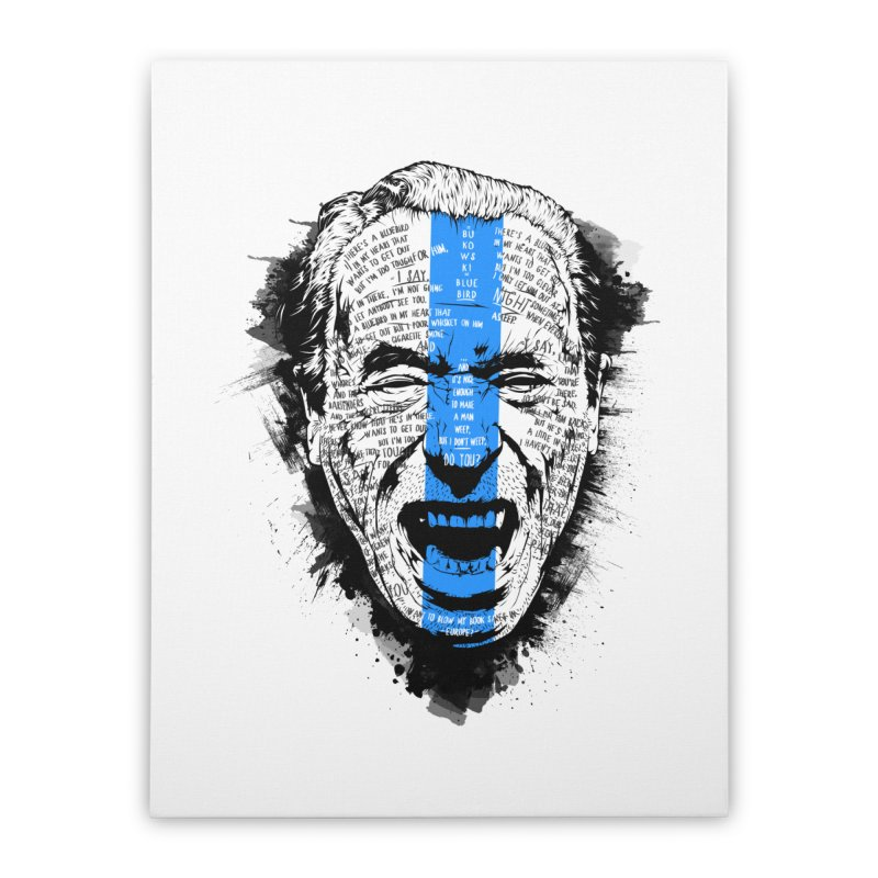 Bukowski | Bluebird v2 Home Stretched Canvas by Gabriel Mihai Artist Shop