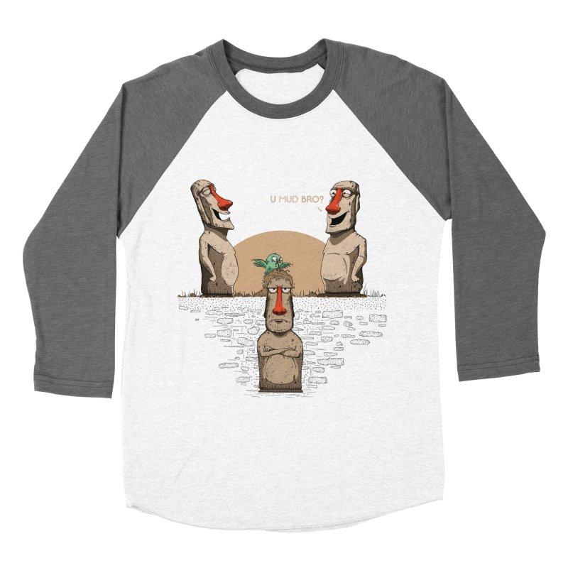 U mud bro? Men's Baseball Triblend Longsleeve T-Shirt by Gabriel Mihai Artist Shop