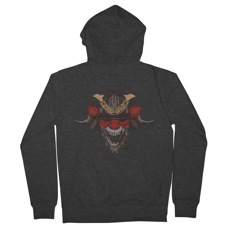 Samurai Men's French Terry Zip-Up Hoody by Gabriel Mihai Artist Shop