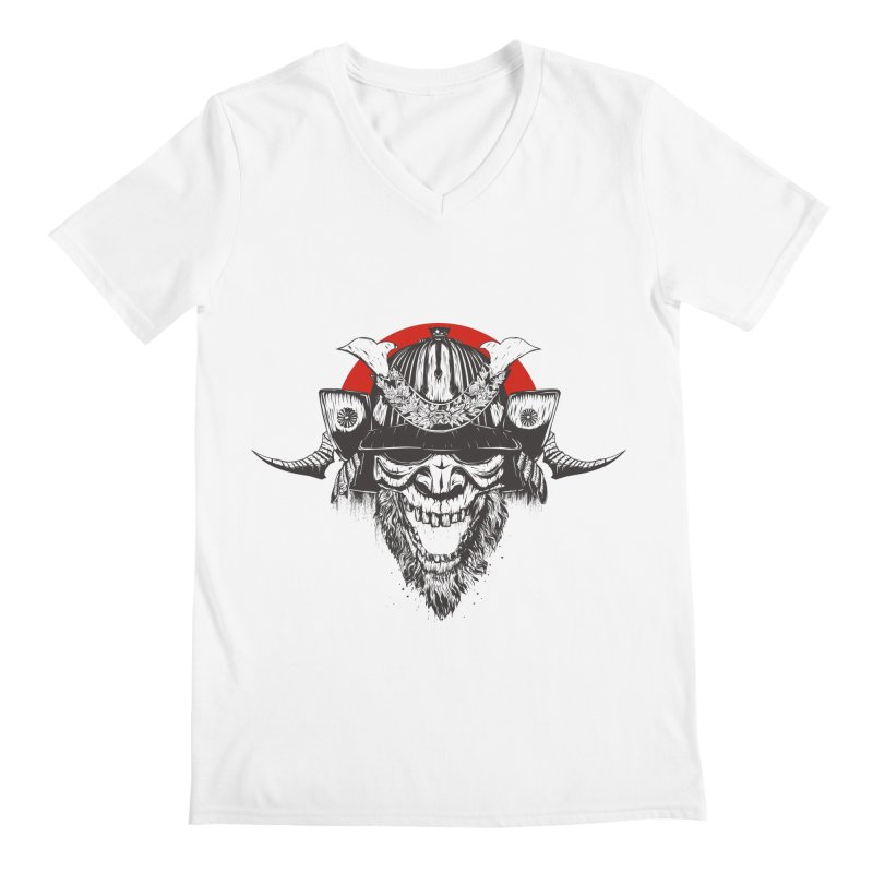Samurai v2 Men's Regular V-Neck by Gabriel Mihai Artist Shop