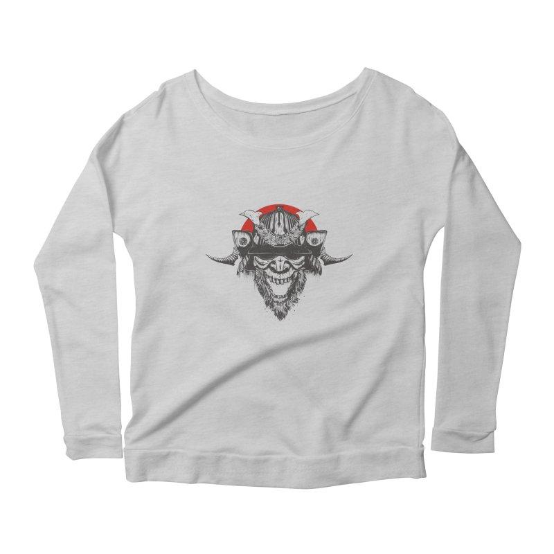 Samurai v2 Women's Scoop Neck Longsleeve T-Shirt by Gabriel Mihai Artist Shop