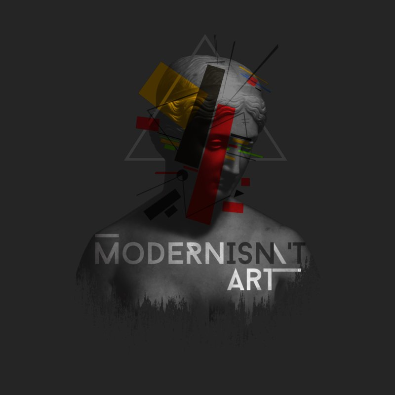 Modernisn't Art Men's Zip-Up Hoody by Gabriel Mihai Artist Shop