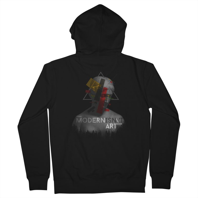 Modernisn't Art Women's French Terry Zip-Up Hoody by Gabriel Mihai Artist Shop