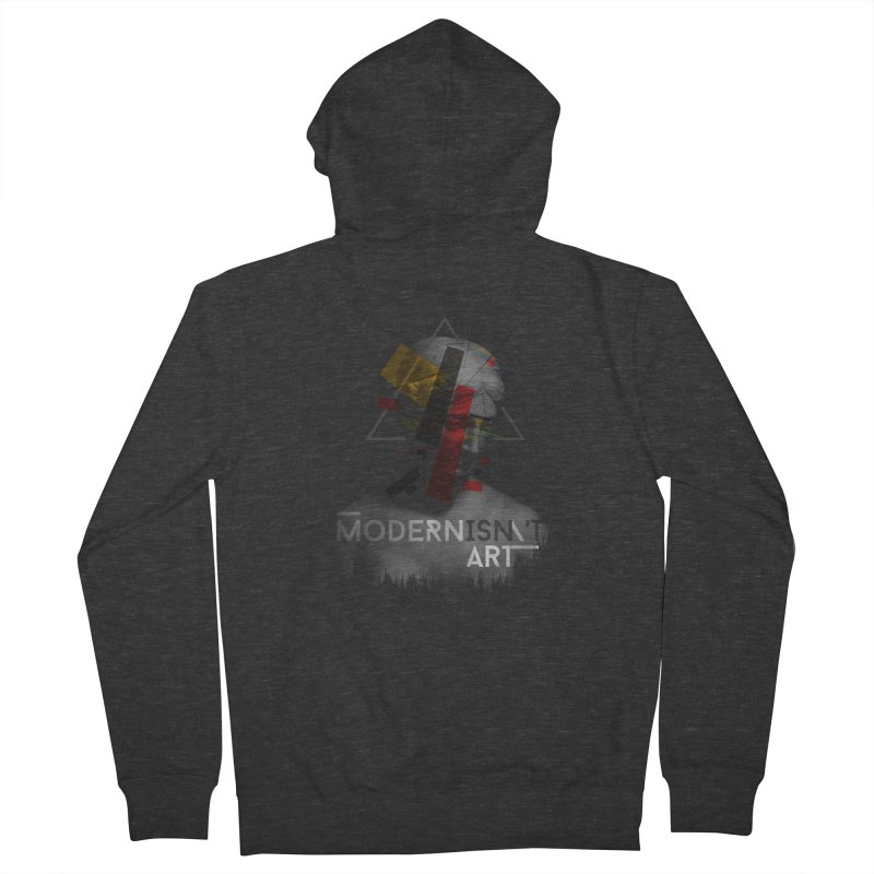 Modernisn't Art Men's French Terry Zip-Up Hoody by Gabriel Mihai Artist Shop