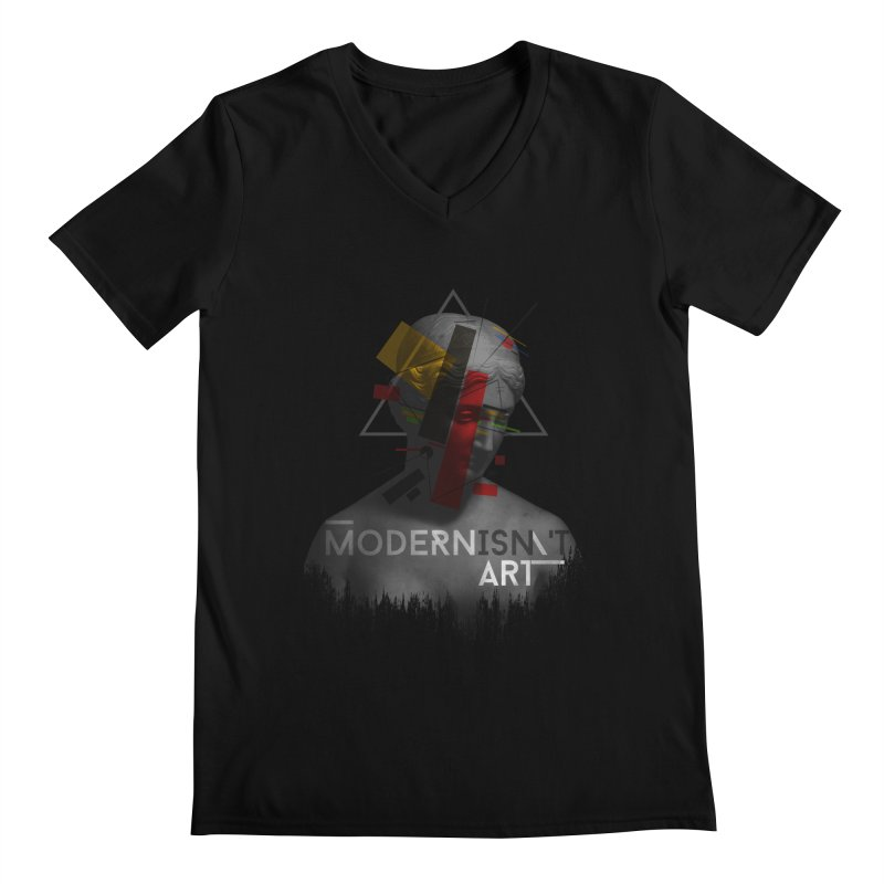 Modernisn't Art Men's V-Neck by Gabriel Mihai Artist Shop