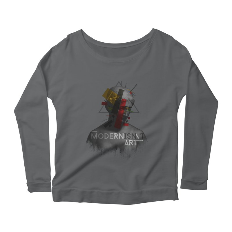 Modernisn't Art Women's Longsleeve Scoopneck  by Gabriel Mihai Artist Shop