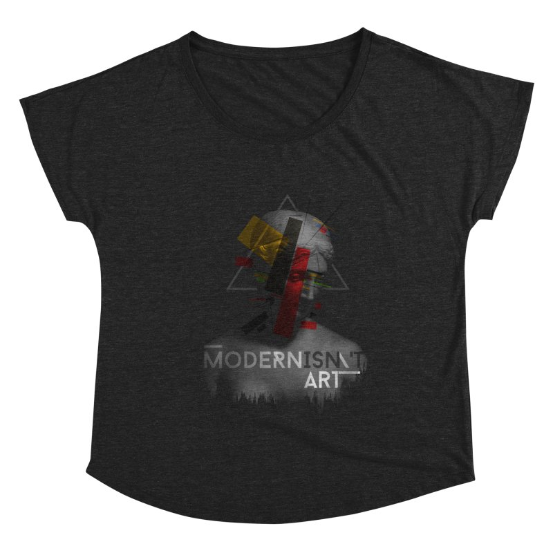 Modernisn't Art Women's Scoop Neck by Gabriel Mihai Artist Shop