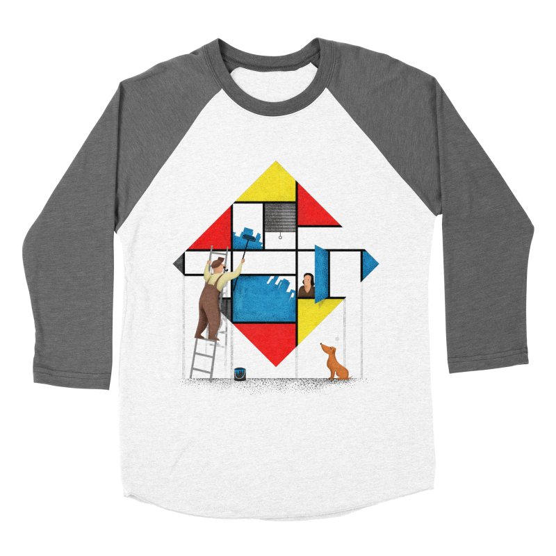 Mondri an' his house Men's Longsleeve T-Shirt by Gabriel Mihai Artist Shop