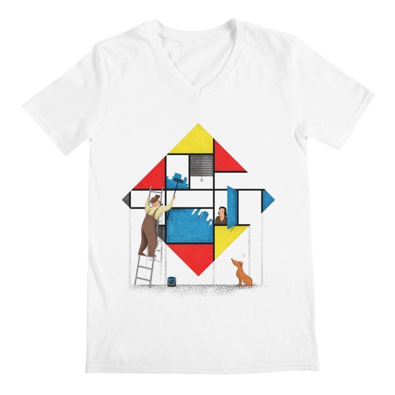 Mondri an' his house Men's V-Neck by Gabriel Mihai Artist Shop