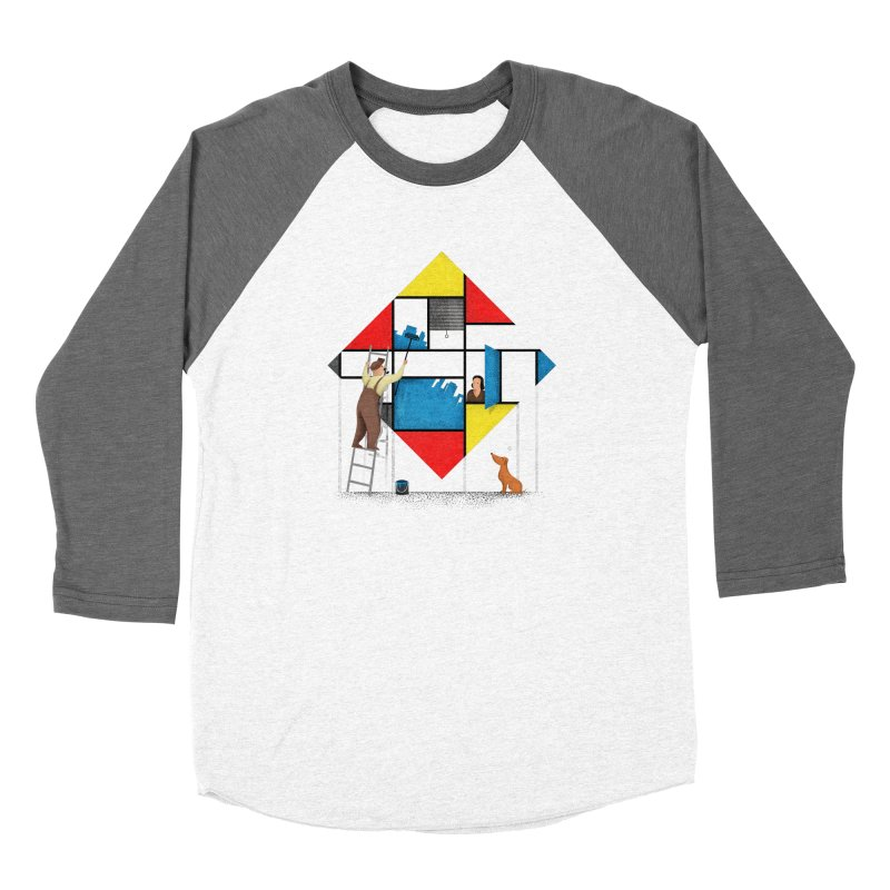 Mondri an' his house Women's Longsleeve T-Shirt by Gabriel Mihai Artist Shop
