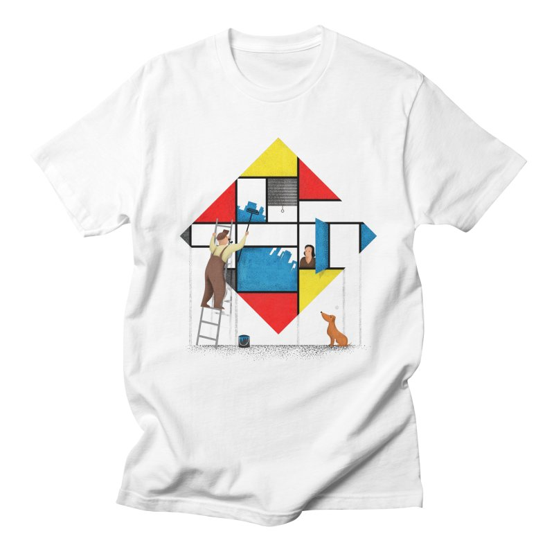 Mondri an' his house Men's Regular T-Shirt by Gabriel Mihai Artist Shop