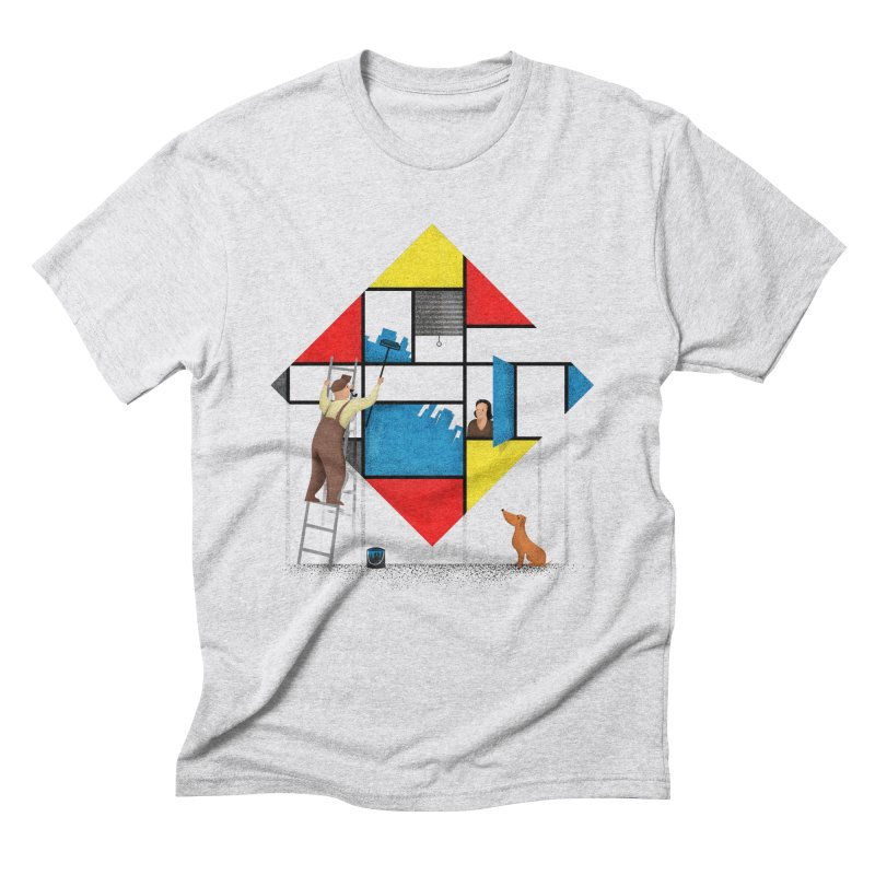Mondri an' his house Men's T-Shirt by Gabriel Mihai Artist Shop