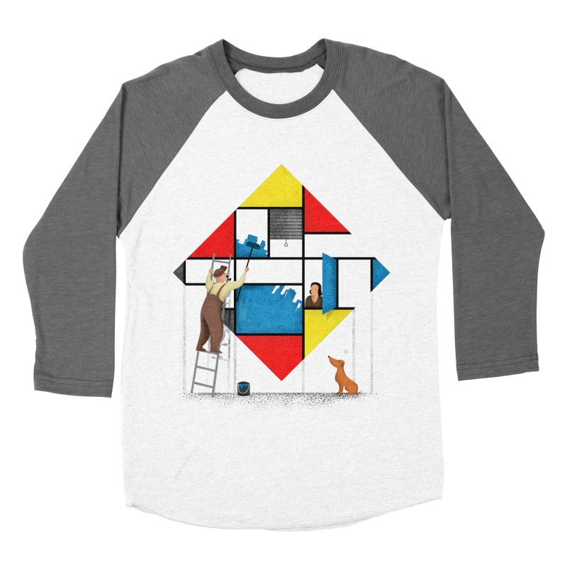 Mondri an' his house Men's Baseball Triblend Longsleeve T-Shirt by Gabriel Mihai Artist Shop