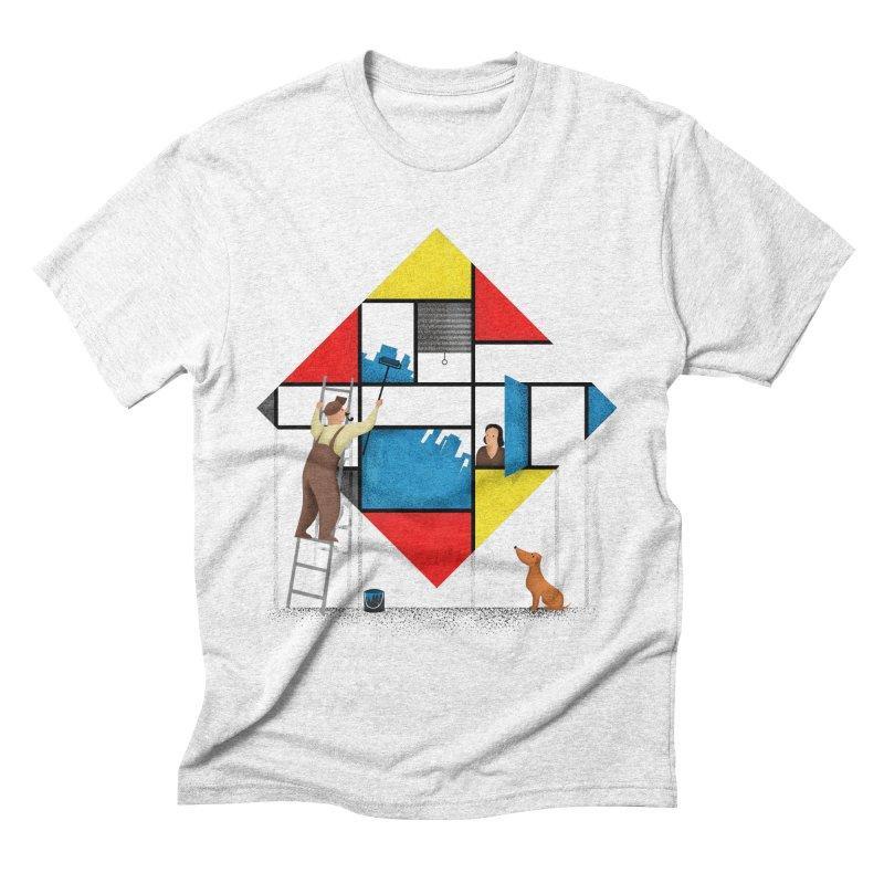 Mondri an' his house Men's Triblend T-shirt by Gabriel Mihai Artist Shop