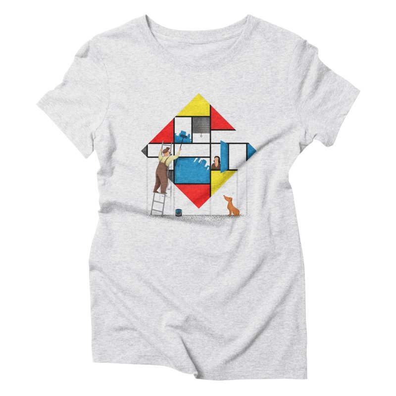 Mondri an' his house Women's Triblend T-Shirt by Gabriel Mihai Artist Shop