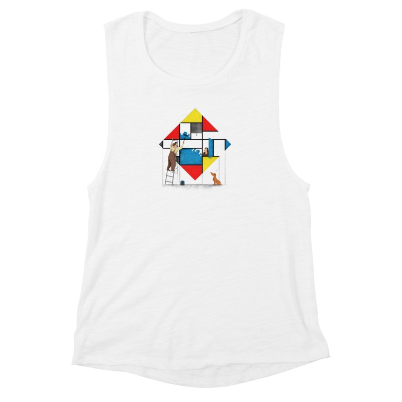 Mondri an' his house Women's Tank by Gabriel Mihai Artist Shop