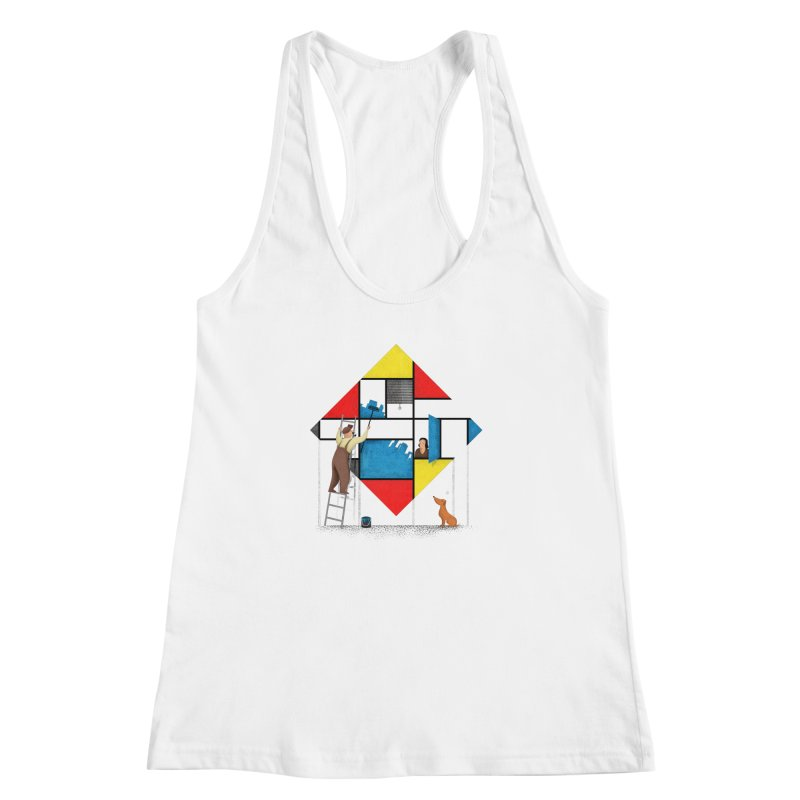 Mondri an' his house Women's Racerback Tank by Gabriel Mihai Artist Shop