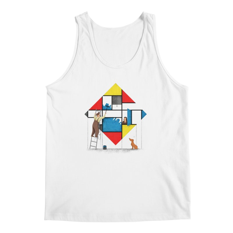Mondri an' his house Men's Regular Tank by Gabriel Mihai Artist Shop