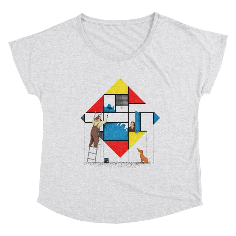 Mondri an' his house Women's Scoop Neck by Gabriel Mihai Artist Shop