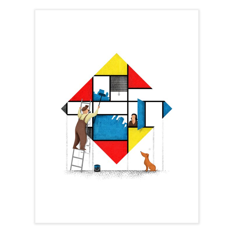 Mondri an' his house Home Fine Art Print by Gabriel Mihai Artist Shop