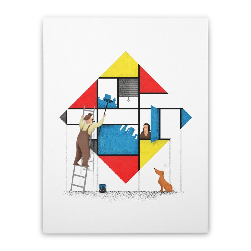 Mondri an' his house Home Stretched Canvas by Gabriel Mihai Artist Shop