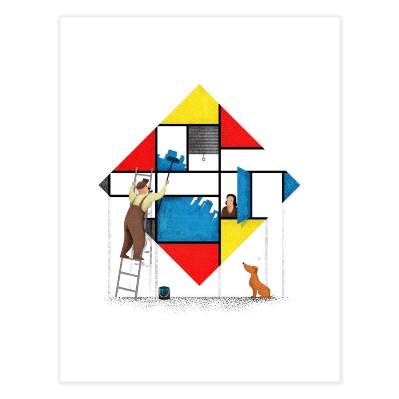 Mondri an' his house Home Fine Art Print by Gabriel Mihai Artist Shop