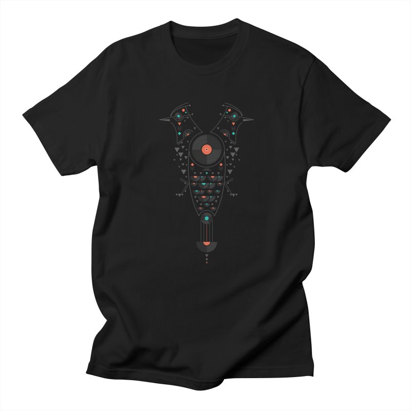 Vinyl Birds Men's T-Shirt by Gabriel Mihai Artist Shop