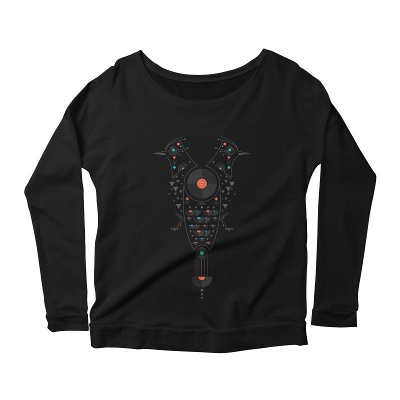 Vinyl Birds Women's Scoop Neck Longsleeve T-Shirt by Gabriel Mihai Artist Shop