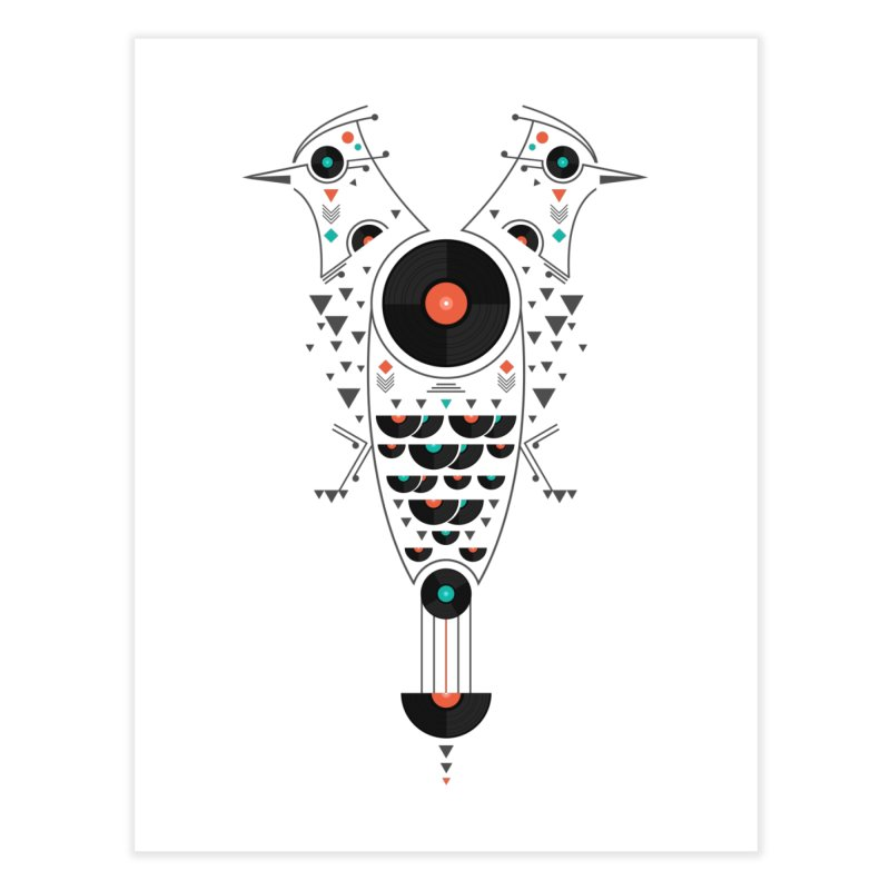 Vinyl Birds Home Fine Art Print by Gabriel Mihai Artist Shop