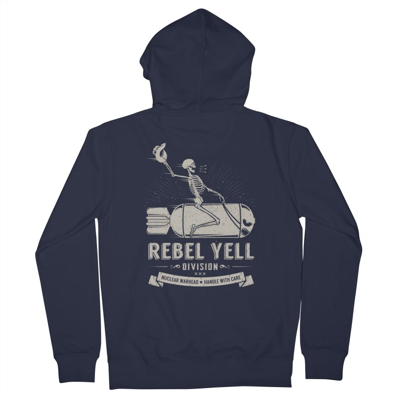 Rebel Yell Women's French Terry Zip-Up Hoody by Gabriel Mihai Artist Shop