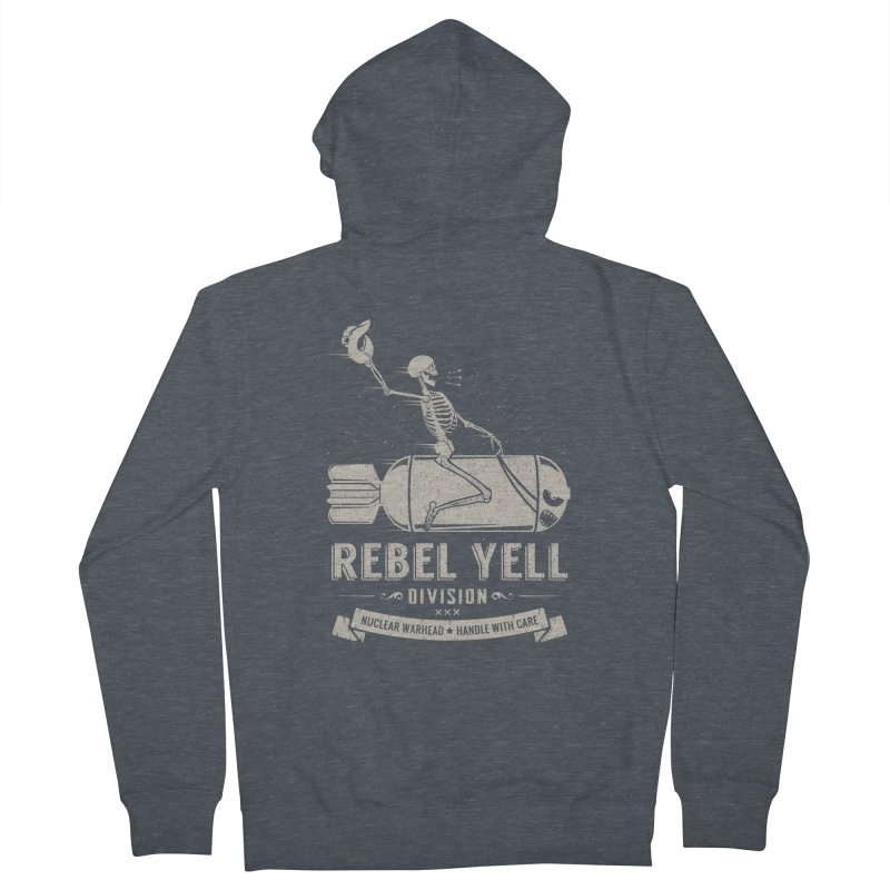 Rebel Yell Men's Zip-Up Hoody by Gabriel Mihai Artist Shop