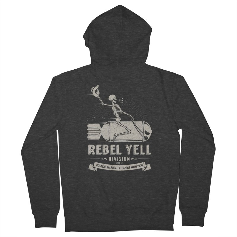 Rebel Yell Men's French Terry Zip-Up Hoody by Gabriel Mihai Artist Shop