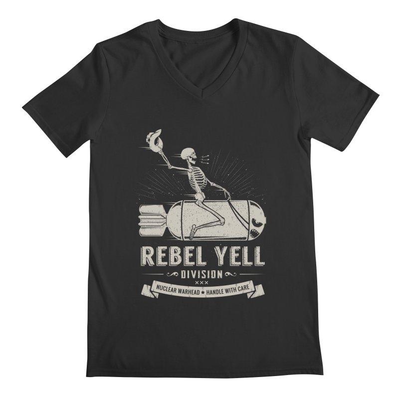 Rebel Yell Men's Regular V-Neck by Gabriel Mihai Artist Shop