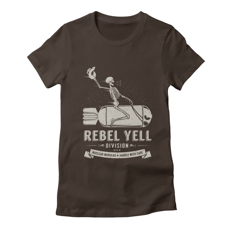 Rebel Yell Women's Fitted T-Shirt by Gabriel Mihai Artist Shop