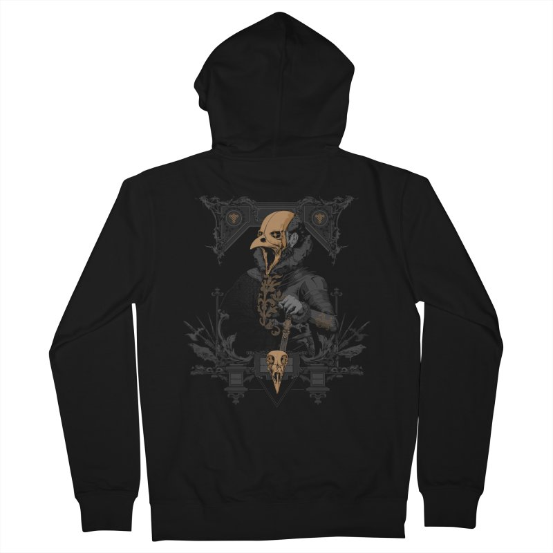 Raven Lord Men's Zip-Up Hoody by Gabriel Mihai Artist Shop