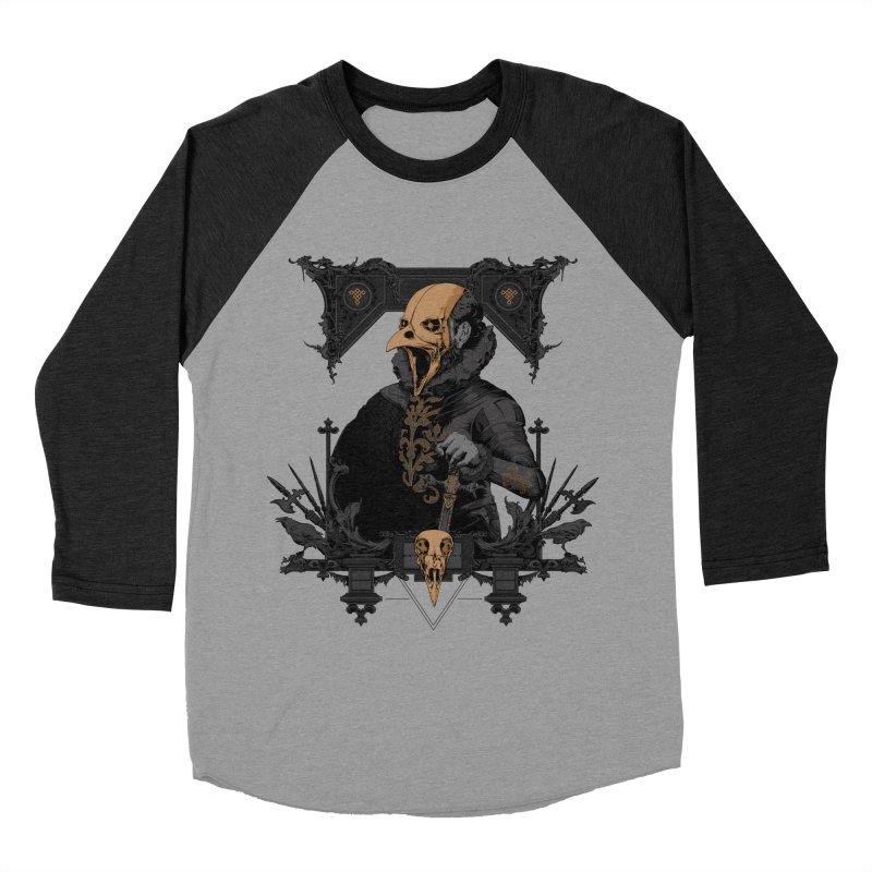 Raven Lord Men's Baseball Triblend Longsleeve T-Shirt by Gabriel Mihai Artist Shop