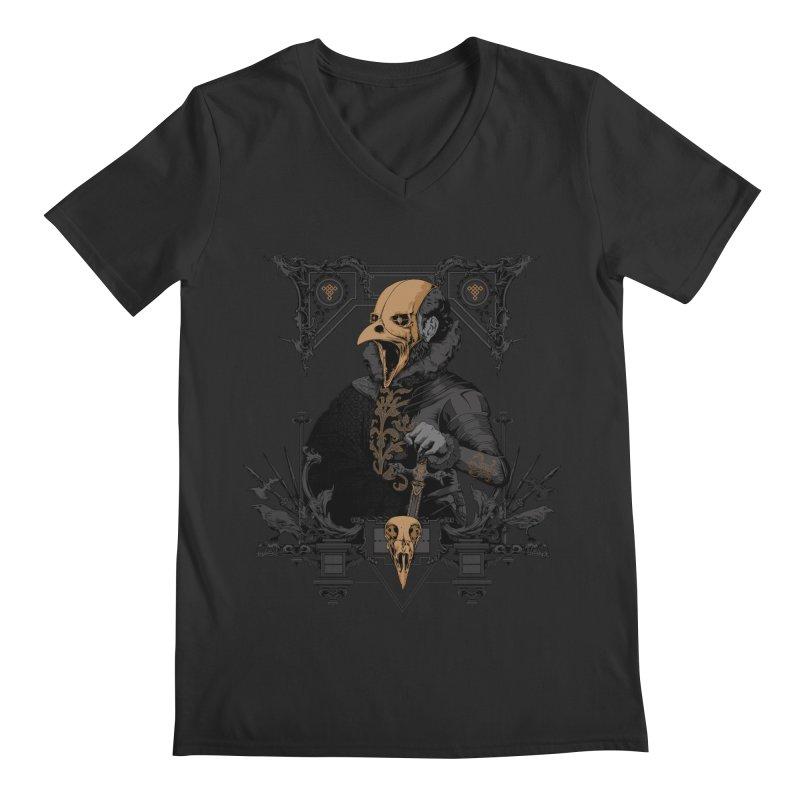 Raven Lord Men's V-Neck by Gabriel Mihai Artist Shop