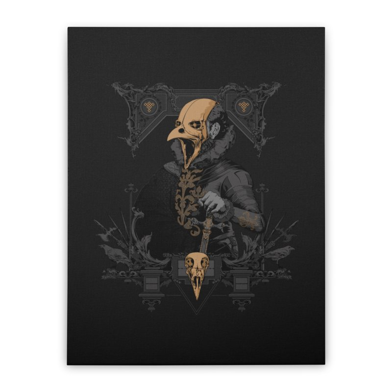 Raven Lord Home Stretched Canvas by Gabriel Mihai Artist Shop