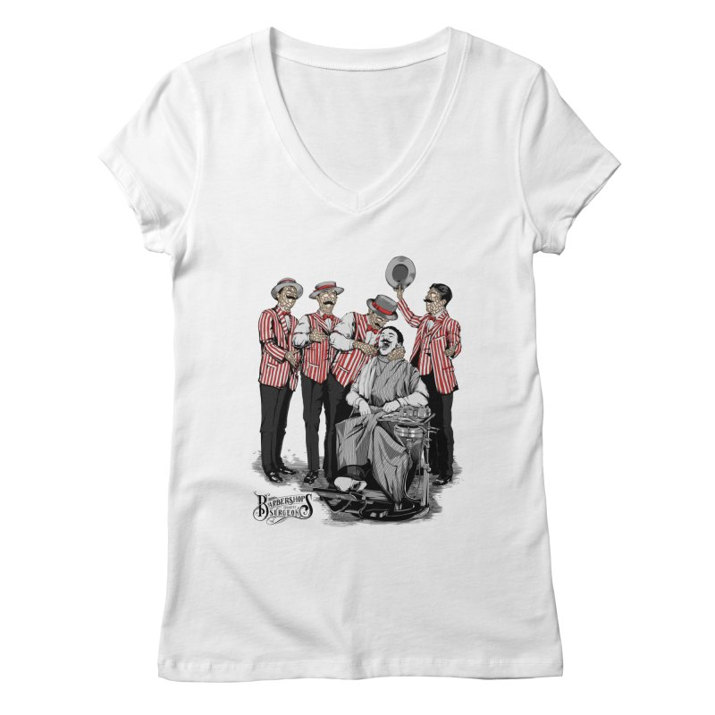 Barbershop Quartet Surgeons Women's V-Neck by Gabriel Mihai Artist Shop