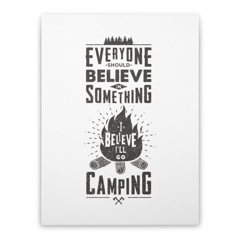 Camping Home Stretched Canvas by Gabriel Mihai Artist Shop