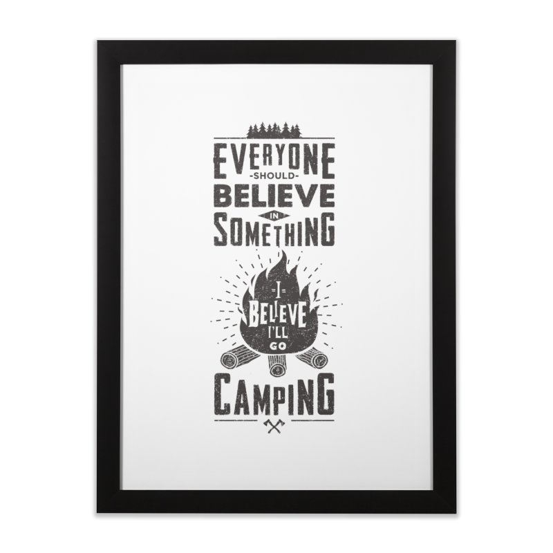 Camping Home Framed Fine Art Print by Gabriel Mihai Artist Shop