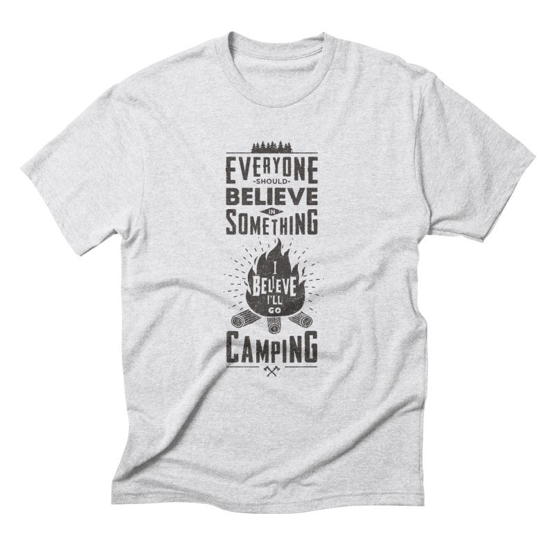 Camping Men's Triblend T-Shirt by Gabriel Mihai Artist Shop