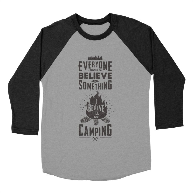 Camping Women's Baseball Triblend Longsleeve T-Shirt by Gabriel Mihai Artist Shop