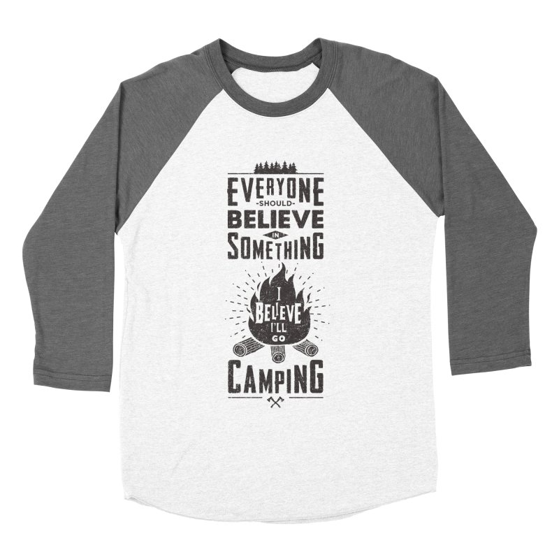 Camping Men's Baseball Triblend Longsleeve T-Shirt by Gabriel Mihai Artist Shop