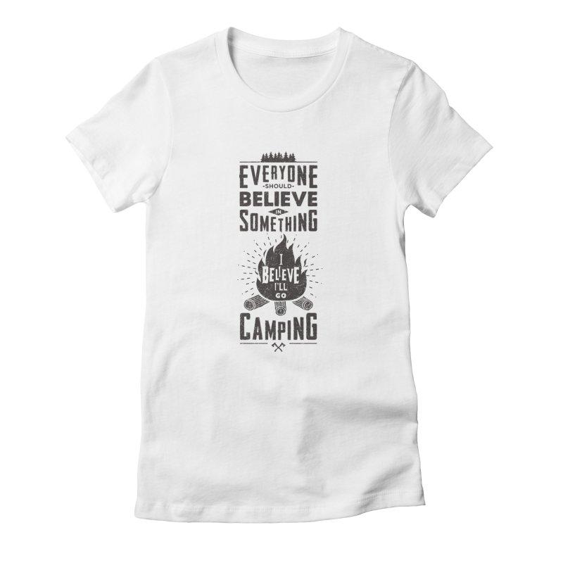 Camping Women's T-Shirt by Gabriel Mihai Artist Shop