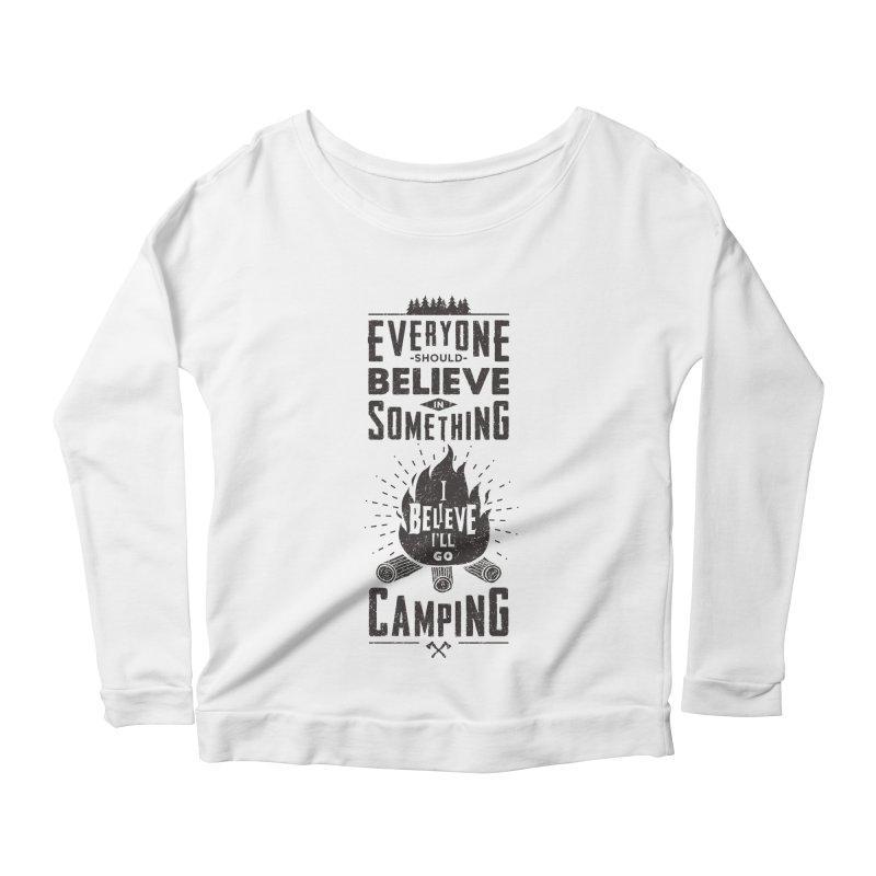 Camping Women's Scoop Neck Longsleeve T-Shirt by Gabriel Mihai Artist Shop